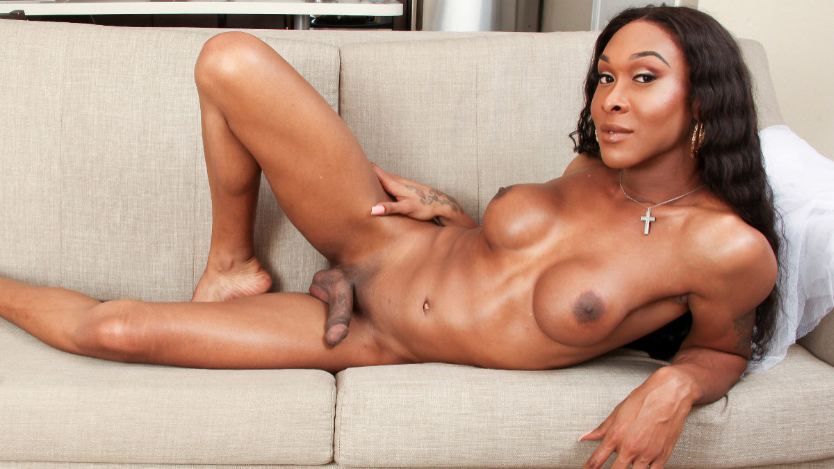 Ebony Shemale Fucked Raw