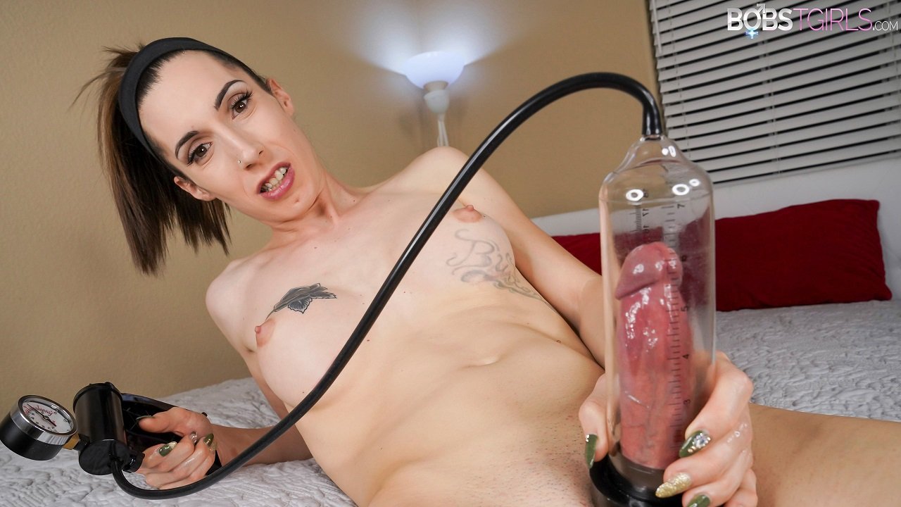 Playing with my cock pump